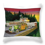 Port Madison Sunrise Throw Pillow