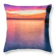 Summer Sunrise Selwick Bay Flamborough Throw Pillow