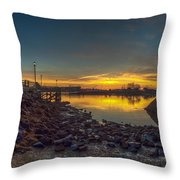 sunrise at Sheafe Warehouse Throw Pillow