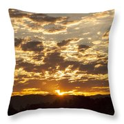 Sunrise At Spirit Lake Sanctuary Lower Lake Ca 20140710 0609 Throw Pillow