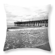Sunrise At Surfside Bw Throw Pillow