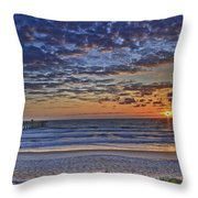 Sunrise At The Beach Throw Pillow