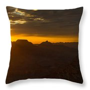 Sunrise At The Canyon Throw Pillow
