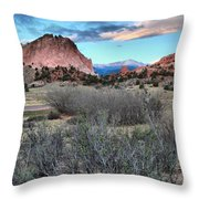 Sunrise At The Gods Throw Pillow