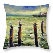 Sunrise At The Inlet By Julianne Felton 2-24-14 Throw Pillow