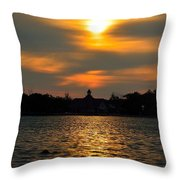 Sunrise At The Lake Throw Pillow