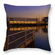 Sunrise At The Lakefront Throw Pillow