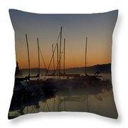 Sunrise At The Marina - Lake Nockamixon State Park Throw Pillow