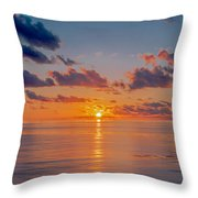 Sunrise At The Seychelles Throw Pillow