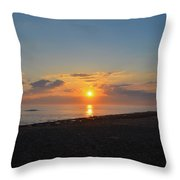 Sunrise At The Shore Throw Pillow