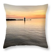 Sunrise At The Straits Throw Pillow