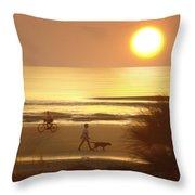 Sunrise At Topsail Island 2 Throw Pillow