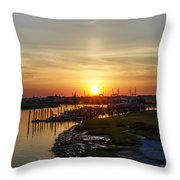 Sunrise At Two Mile Inlet - Wildwood Crest Throw Pillow