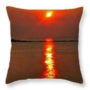 Sunrise Atlantic City Throw Pillow