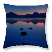 Sunrise Blues Throw Pillow