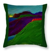 Sunrise Castle By Jrr Throw Pillow