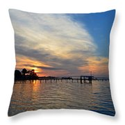 Sunrise Colors With Red Sky At Morning Sailor's Warning Throw Pillow