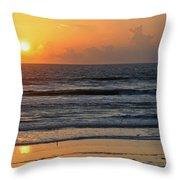 Sunrise Daytona Throw Pillow