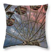 Sunrise Ferris Wheel Throw Pillow