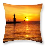 Sunrise Frolic Throw Pillow