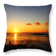 Sunrise From Sachuest Throw Pillow