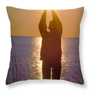 Sunrise - Healing Light Throw Pillow