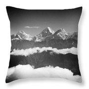 Sunrise Himalayas Mountain Nepal Silhouette Throw Pillow
