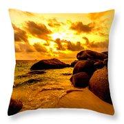 Sunrise In Bintan 2 Throw Pillow