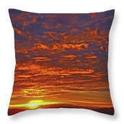 Sunrise In Colombia Throw Pillow