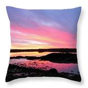 Sunrise In Maine Throw Pillow