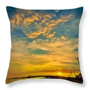 Sunrise In Manaure Colombia Throw Pillow