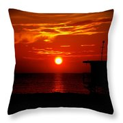 Sunrise In Miami Beach Throw Pillow