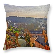 Sunrise In Old Town Throw Pillow