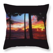 Sunrise In Queensland 1 Throw Pillow