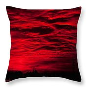 Sunrise In Red Throw Pillow