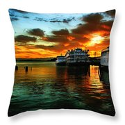 Sunrise In San Francisco Throw Pillow