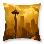 Sunrise In Seattle Throw Pillow