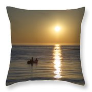 Sunrise In Stone Harbor New Jersey Throw Pillow