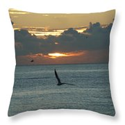 Sunrise In The Florida Riviera Throw Pillow