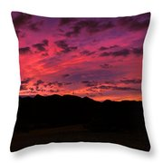 Sunrise In The Foothills Throw Pillow