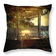 Sunrise In The Gazebo Throw Pillow