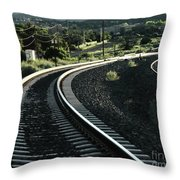 Sunrise In The Yard Throw Pillow