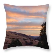 Sunrise - Indian Lodge Throw Pillow by Allen Sheffield