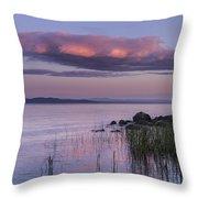 Sunrise Lake Champlain Shore Vermont Clouds Throw Pillow