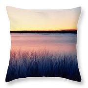 Sunrise Lake Michigan Wi Usa Throw Pillow