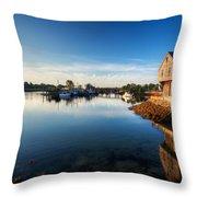 Sunrise Light On Prescott Park Throw Pillow by Jo Ann Snover