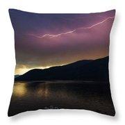 Sunrise Lightning Throw Pillow