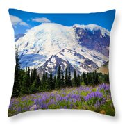 Sunrise Lupines Throw Pillow