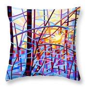 Sunrise Throw Pillow by Mandy Budan
