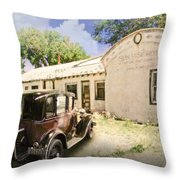 Sunrise Motel Throw Pillow